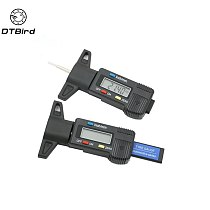 Black High-Precision Digital Tread Depth Gauge For Car 0-25.4MM Tyre Gauge Tire pressure Wear Detection Car Safety Measurer Tool