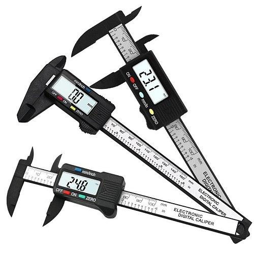 High precision electronic digital display caliper 100/150mm plastic measuring tool inner diameter outer  gauge ruler