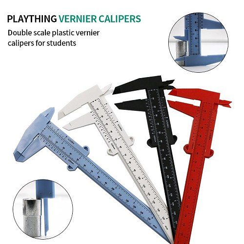 1pcs 150mm Mini Plastic Vernier Caliper Gauge Sliding Measure Tool Ruler Micrometer Student Mini Ruler DIY Model Making
