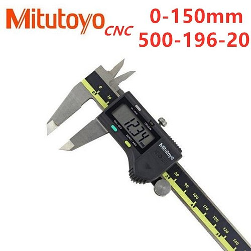 Mitutoyo CNC  Digital Caliper Absolute 500-196-20Stainless Steel Battery Powered Inch/Metric 0-6  Range -0.001  Accuracy 0.0005