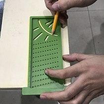 T-Type Plastic Angle Ruler Woodworking Scriber Mark Line Caliper Carpenter Precision Measuring Tool Wood Metric Mark Gauge