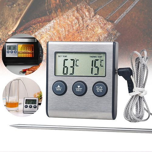 DIDIHOU 1pc Kitchen food thermometer Digital Probe Oven & Meat Thermometer Timer for BBQ Grill Meat Food Cooking
