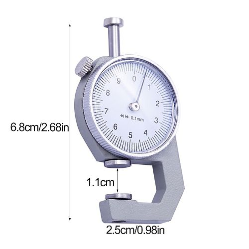 LMDZ 0-10mm Dial Thickness Gauge Metal Width Measurement Thickness Meter Dial Tester Sturdy Analysis Measuring Tool