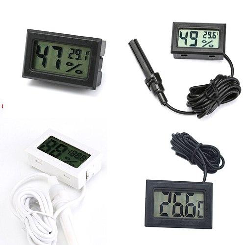 Mini Digital Humidity Meter Thermometer Hygrometer Sensor Gauge LCD Temperature Refrigerator Aquarium Monitoring Display Indoor