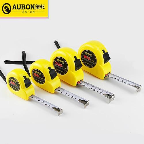 AUBON 2m/ 3m/ 5m/ 7.5m/ 10m Measuring Roulette Tape Steel Tape Measure Flexible Rule Tapeline Retractable Measuring Tools