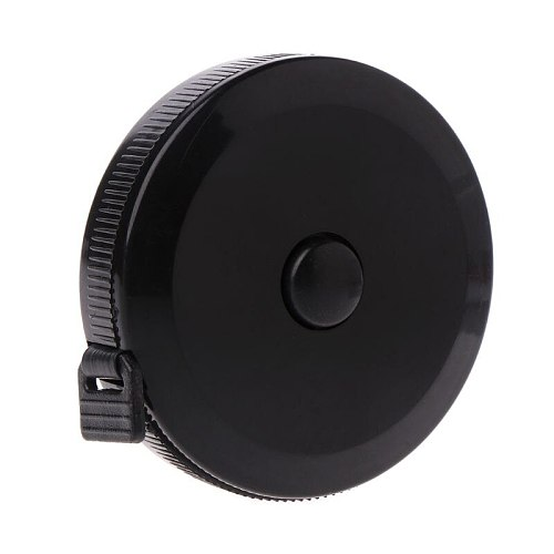 1.5m/60inch Black Tape Measures Dual Sided Retractable Tools Automatic ABS Flexible Mini Sewing Measuring Tape 19QB