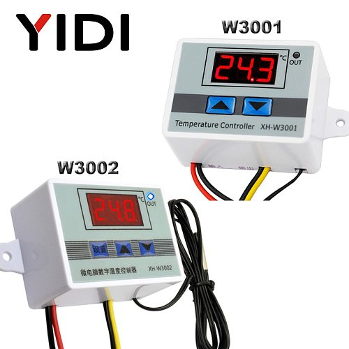 W3001 W3002 Microcomputer Temperature Controller DC12V 24V AC110 AC200V Digital Thermostat Thermorelator Heating Cooling Control