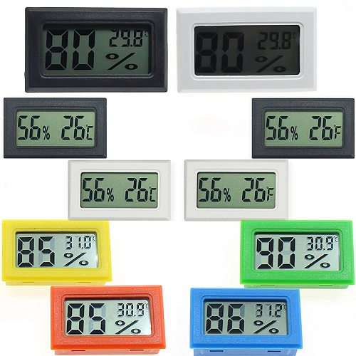 1Pc Mini Indoor Digital LCD Temperature Humidity Meter Thermometer Hygrometer