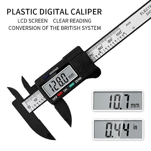 100/150mm Digital Vernier Caliper Inch and Millimeter Conversion Measuring Tool with LCD Electronic Vernier Metal Micrometer