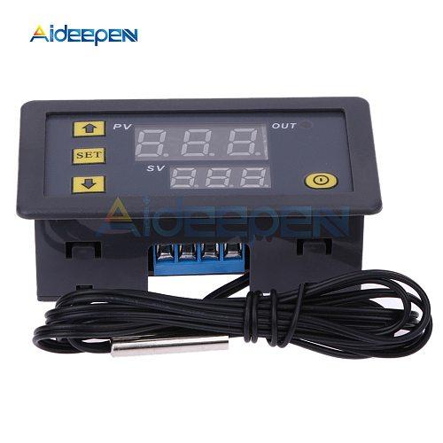 10pcs W3230 AC 110V-220V DC 12 24V Digital Thermostat Temperature Controller Regulator Heat Cool Control Instruments LED Display
