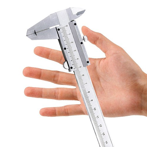 QSTEXPRESS Vernier Caliper 6  0-150mm 0.02mm Metal Calipers Gauge Micrometer Measuring Tools