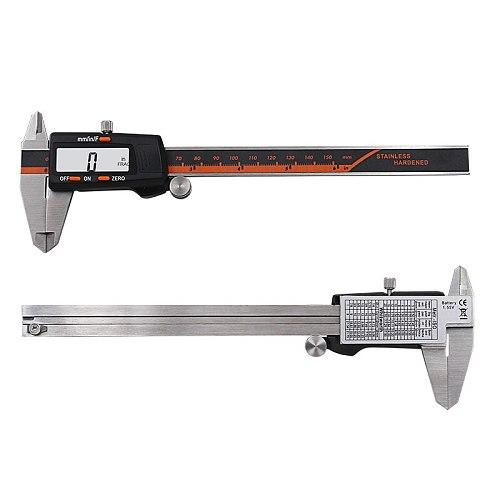 Stainless Steel Digital Display Caliper 150mm Fraction / MM / Inch High Precision Stainless Steel LCD Vernier Caliper