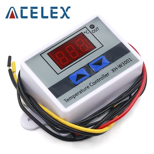 10A 12V 24V 220VAC Digital LED Temperature Controller XH-W3001 For Incubator Cooling Heating Switch Thermostat NTC Sensor