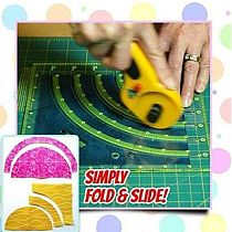 Arcs & Fans Quilt Circle Cutter Ruler,Multifunctional Arc Cutting Patchwork Ruler DIY Tools with Double Colored Lines