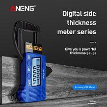 ANENG 0.01mm Digital Thickness Gauge Mini Dial Thickness Gauge Caliper Meter Carbon Fiber Composites Width Measure Tools