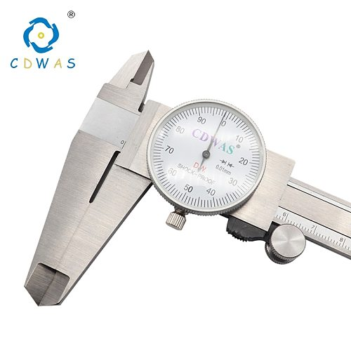Dial Calipers 0-150 0-200 300 mm 0.01mm High Precision Industry Stainless Steel Vernier Caliper Shockproof Metric Measuring Tool