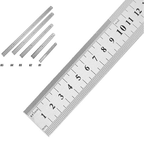 prettygood7 Stainless Steel Metal Straight Ruler Double Sided Measuring Too