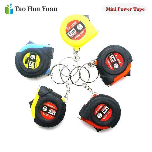 Mini Power Tape Measure Keychain Universal Pull Ruler Metric Tape Measure Retractable 1m Measuring Tape Meter Inch Tailor Tool A