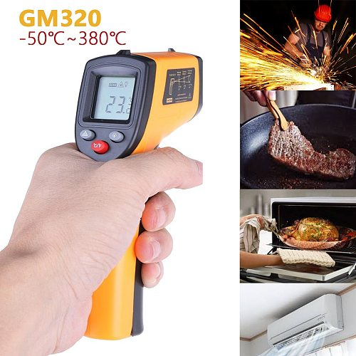 LCD Screen IR Infrared Thermometer GM320 Non-Contact Digital Pyrometer Temperature Meter  Point -50~380 Degree Termometr