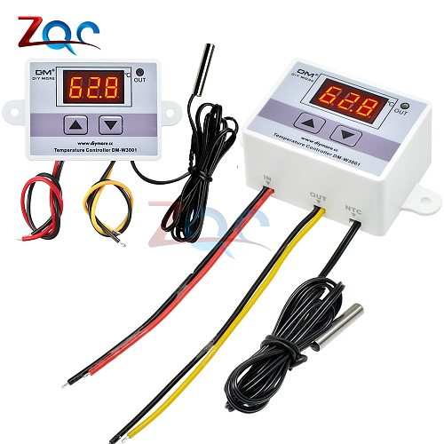 W3001 110V 220V 12V 24V Digital Temperature Controller Thermostat Thermoregulator Aquarium Incubator Water Heater Temp Regulator