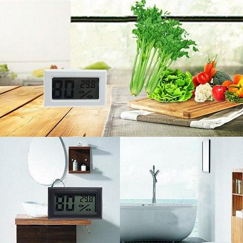 1Pc Mini Indoor Digital LCD Temperature Humidity Meter Thermometer Hygrometer