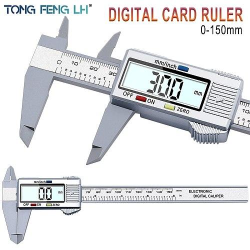 Tongfenglh 6inch LCD 150mm Digital Electronic Carbon Fiber Vernier Caliper Gauge Micrometer Model 5201