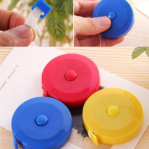 Portable 150CM Mini Measuring Tape Measure Retractable Metric Belt Colorful Ruler Centimeter Inch Children Height Ruler