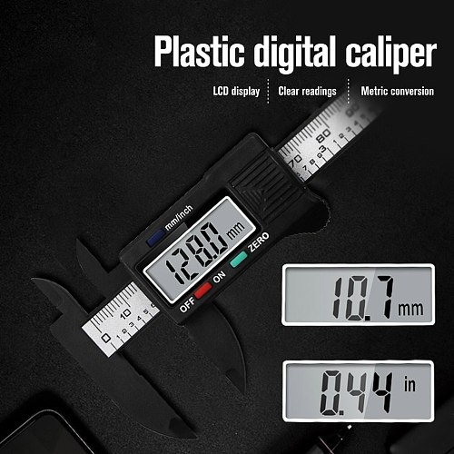 0-100mm Precision Electronic Digital LCD Vernier Caliper Tool Ruler Measuring Tools Gauge  Caliber Vernier
