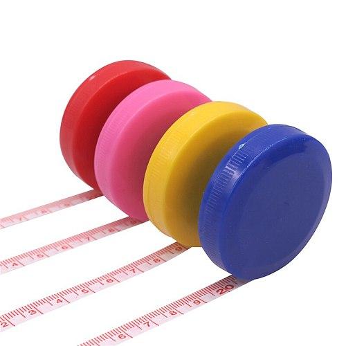 1-5 Pcs Random Color Soft Tape Measure 150cm Roulette Measuring Tape Measure Retractable Colorful Portable Ruler Centimeter Inch