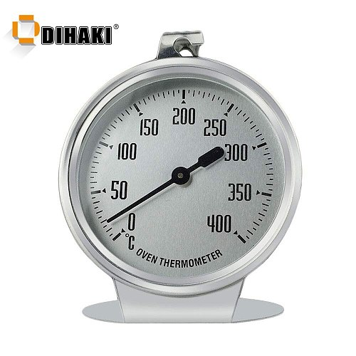 0-400 Celsius Stainless Steel Oven Thermometer Mini Dial Stand Up Temperature Gauge Gage Food Meat Kitchen Tools Oven Cooker