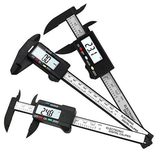 150mm 100mm Vernier Caliper Gauge 6/4 inch 0.1mm Accuracy LCD Digital Caliper Digital Carbon Fiber Micrometer Measuring Tools