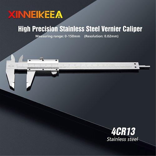 High Precision Stainless Steel Caliper Stainless Steel Vernier Caliper 0-150mm Measuring Instrument Metrology Tools Calipers