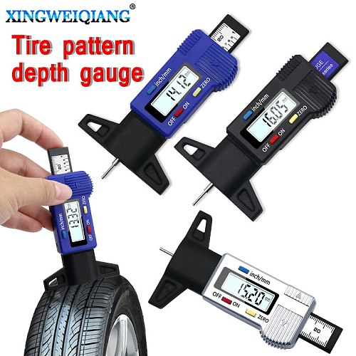 New Brand New Car Tyre Digital Tread Brake Pad Shoe Gauge Depth Tester Guage Test Caliper
