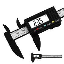 0-100mm/0.1mm Electronic Digital Caliper Carbon Fiber Composites mm&inch Vernier Caliper Measuring Tools Digital Ruler trammel