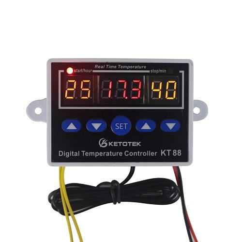 Digital Thermostat  for Incubator 12V 24V 110V 220V Temperature Controller Regulator Control Switch Thermoregulator 10A 220VAC