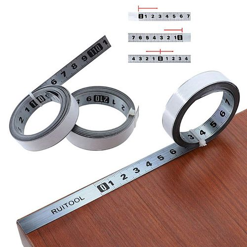 Tape Measure Metric 1M-5M Miter Track Measuring Tape Steel Ruler for T-track Router Saw Table Woodworking Tools M89B
