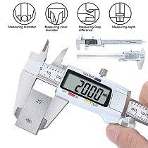 Digital Caliper Stainless Steel Electronic Digital Vernier Calipers 6Inch 0-150mm Metal Micrometer Measuring Tool Caliper Gauges