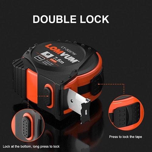 LOMVUM 5M Metric System Auto Lock Measurement Tape 7.5M Tape Measure Retractable 3M Measuring Tape Centimeters  Gauging Tools