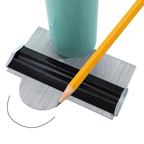 Metal Stainless Steel Profile Contour Gauge Template Tiling Skirting Laminate Profile Wood Ruler Measuring Tools