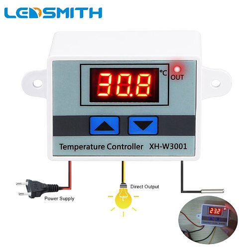 XH-W300110A Digital Temperature Controller Quality Thermal Regulator Thermocouple Thermostat with LCD Display 12V 24V 110V 220V