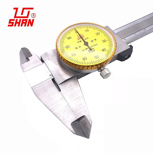 Dial calipers 0.01mm High precision stainless steel vernier with table caliper 0-150 0-200 0-300 mm caliper dial vernier caliper
