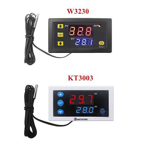 KT3003 Digital Thermostat 12V 24V 110V 220V Temperature Controller Regulator Heating Cooling Control Switch Relay Output