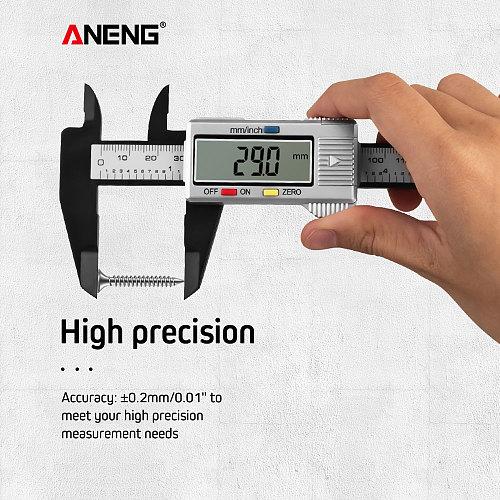 ANENG 150mm Digital Vernier Caliper Micrometer Paquimetro calibrador Digital Measurement mini Calipers Scale Measuring Tool