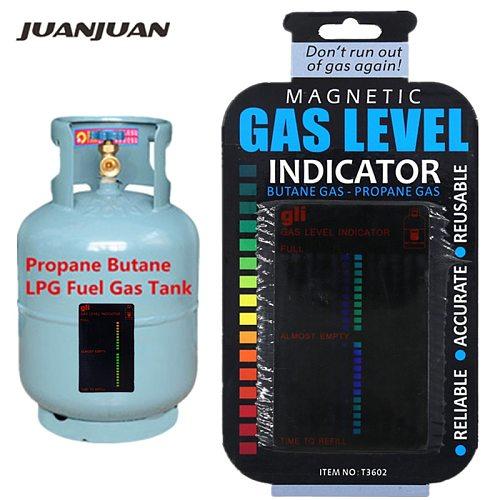 Propane Butane LPG Fuel Gas Tank Level Indicator Magnetic Gauge Caravan Bottle Temperature Measuring Stick 20%off