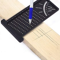 Woodworking Scribe Mark Line Gauge T-Type Cross-Out  Carpenter Angle Ruler Precision Measurement Measuring Tool