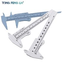 0-100mm 120mm Mini Plastic Sliding Vernier Caliper Gauge Measure Tool Ruler