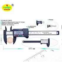 AHEAD New Arrival 100mm 4 inch LCD Digital Electronic Carbon Fiber Vernier Caliper Gauge Micrometer Measuring Tool AH03-10453