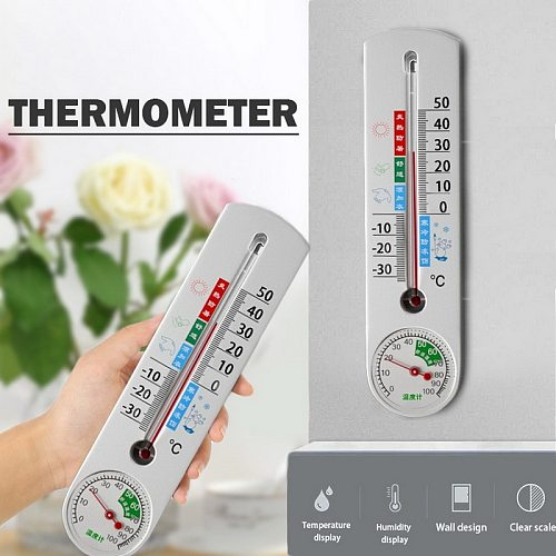 22cm long Wall Hang Thermometer Indoor Outdoor Garden House Garage Office Room Hung Logger Temperature Measure Tool#1