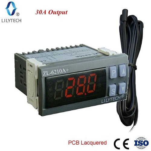 ZL-6210A+, 30A Output, Temperature Controller, Digital  Thermostat, Lilytech