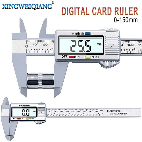 XINGWEIANG Digital Vernier Calipers150mm 6inch LCD Electronic Carbon Fiber Gauge height measuring instruments micrometer